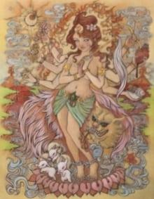 Fire Durga