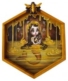 Honey-mermaid-framed-for-Hive