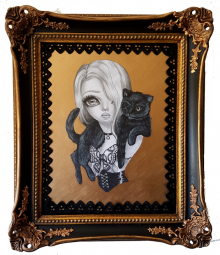 The Black Cat Framed small
