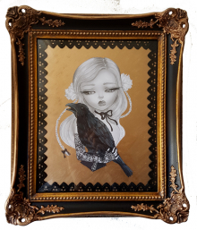 The raven framed small