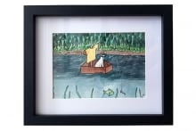 10-Cat-in-a-Boat-Box---Framed