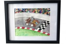 7-Cat-in-a-Race-Car-Box---Framed