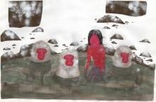 Bathing with Snow Monkeys