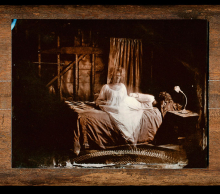 "(DETAIL) Heather D'Augustine ""It's Just A Dream Dear"" 4.5""x32"" Metal Print Reproduction of Tintype $800"