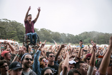 Josh-Withers-Ryan-Chen-crowdsurfing-at-Outside-Lands
