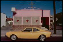 Ave-Pildas-_Pink-Church-Orange-Car