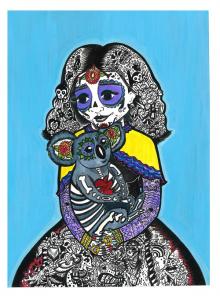 17,-La-Koalavera-de-Killarney-Koala,-c-2016,-Ink,-Gouache,-and-Pigment-Marker-on-Watercolor-Paper,-9-by-12-inches,-by-Donna-Letterese