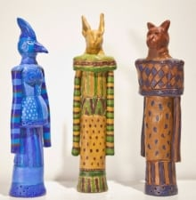The Three Graces: Bird, Rabbit, Cat