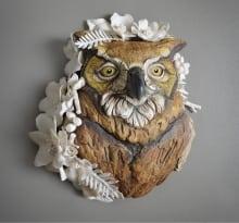 WesleyWright & MaliaLandis_Adorned Pacific Northwest Great Horned Owl