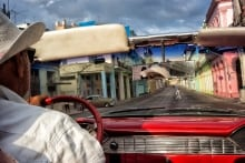 Cruising in a 1955 Chevy Bel Air