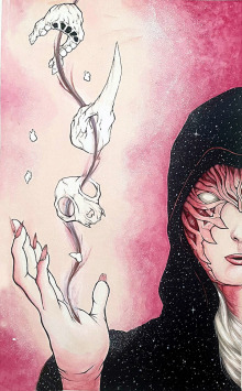 CHRIS-WATERMAN-NECROMANCER-MAGE-1-11-X-17-WATERCOLOR-PEN-AND-INK-ON-BRISTOL-150.00