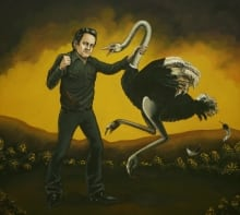 Johnny Cash Ostrich Attack