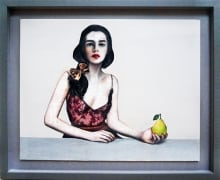 Terrazzo_ The Girl and The Pear_18 x 22 in_mixed_2016_$1000