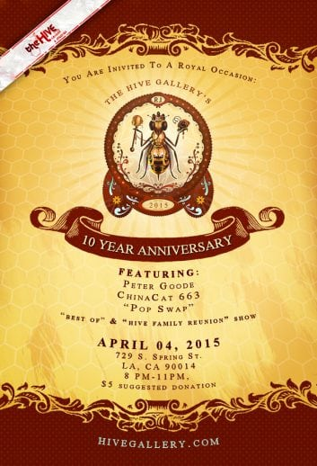April 2015- Hive 10 Year Anniversary postcard
