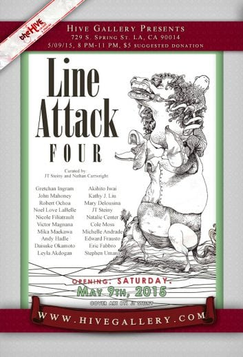 May 2015- Line Attack 4 show! postcard