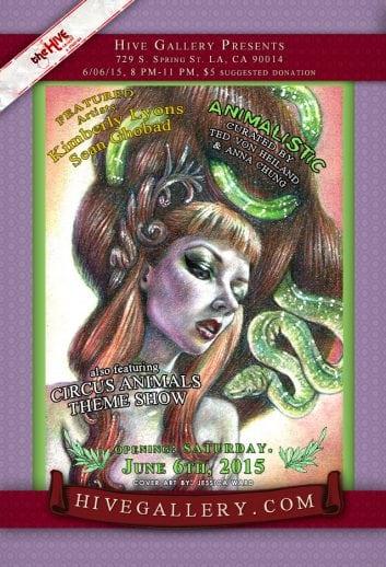 "June 2015- ""Animalistic"" + Circus Animals postcard"