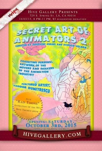 Oct.2015- Secret art of animators 2 postcard
