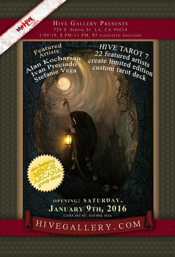 January 2016- Hive Tarot 7 postcard