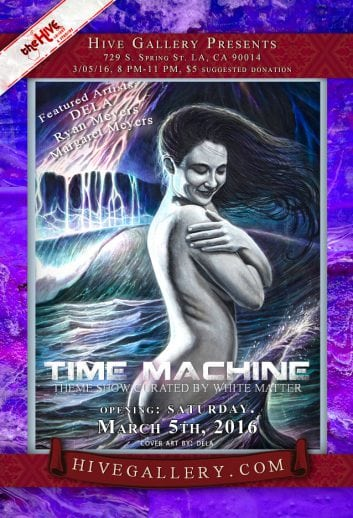 "March 2016- ""Time Machine"" & Group show postcard"