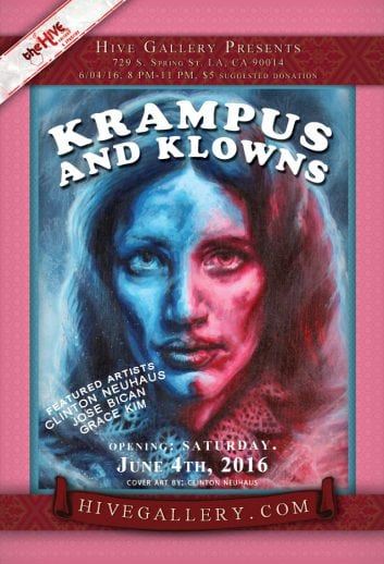 June 2016- Krampus and Klowns!!! 6/4-7/2 postcard