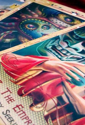 Hive Tarot 8 Artists & Artwork have been chosen! postcard