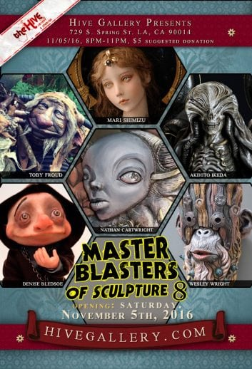 November 2016- Master Blasters of Sculpture 8 postcard