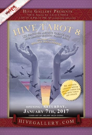 January 2017- Hive Tarot 8 postcard