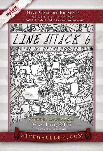 May 2017- Line Attack 6! postcard