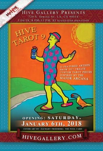 January 2018- Hive Tarot 9! postcard