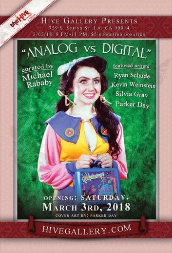 "March 2018- ""Analog vs. Digital"" All photography show! postcard"
