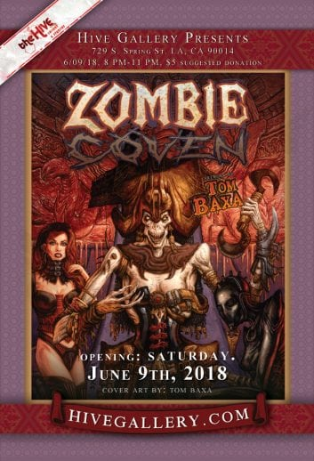 "June 2018- ""Zombie Circus"" + Tom Baxa & more! postcard"