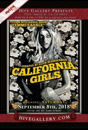 "September 2018- ""California Girls"" & ""Femme Fatale"" show postcard"