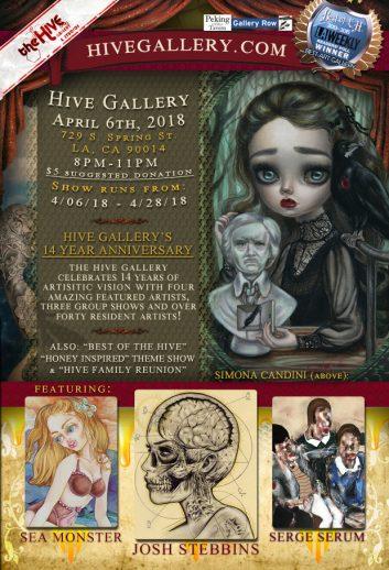 April 2019: Hive 14 Year Anniversary Show! postcard