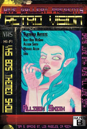"""Retrovision: VHS from the 80's themed show postcard"