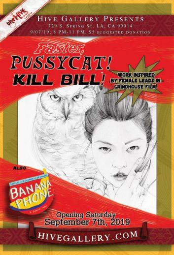 """September 2019- """"Faster Pussycat, Kill Bill"""" + """"Banana Phone"""" postcard"""