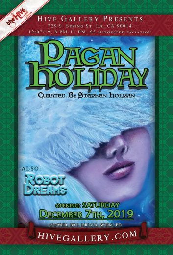 """Pagan Holiday"" + ""Robot Dreams"" – December 2019 postcard"