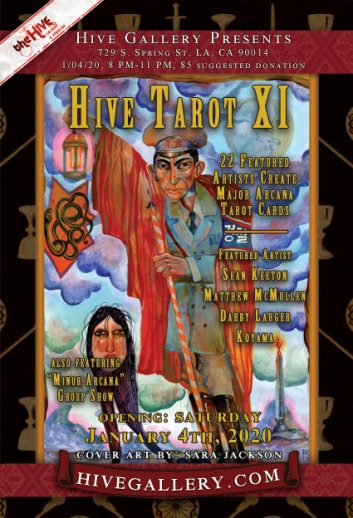 "January 2020: ""Hive Tarot 11"" postcard"