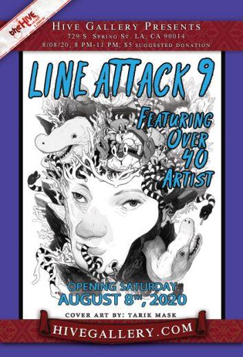 Line Attack 9 postcard