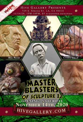 """Master Blasters of Sculpture 12"" postcard"