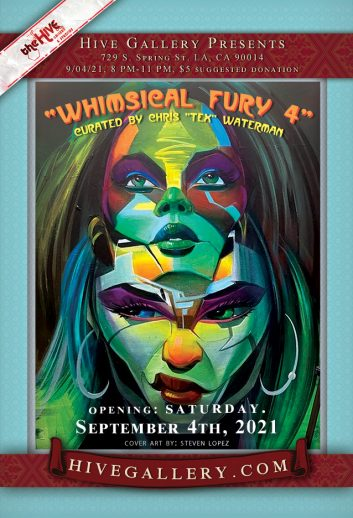 """""""Whimsical Fury 4"""" + """"Call of the Siren"""" + """"Hive Video Show"""" postcard"""